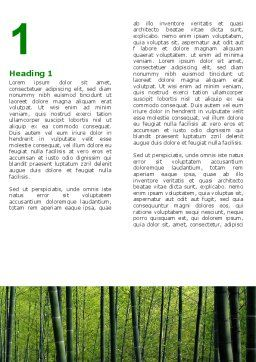 Bamboo Word Template, First Inner Page, 04836, Nature & Environment — PoweredTemplate.com