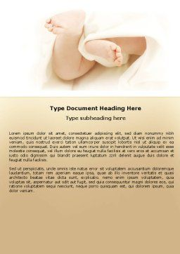 Little Feet Word Template, Cover Page, 04837, Education & Training — PoweredTemplate.com