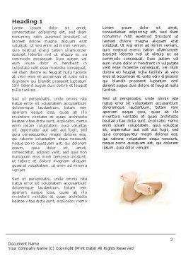 Little Feet Word Template, First Inner Page, 04837, Education & Training — PoweredTemplate.com