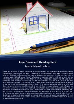 Drawn House Word Template, Cover Page, 04838, Consulting — PoweredTemplate.com