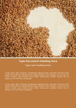 African Famine Word Template, Cover Page, 04841, Medical — PoweredTemplate.com