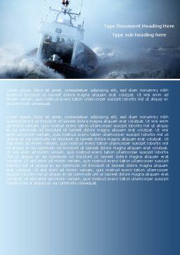 Sea Storm Word Template, Cover Page, 04842, Nature & Environment — PoweredTemplate.com