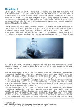 Sea Storm Word Template, First Inner Page, 04842, Nature & Environment — PoweredTemplate.com