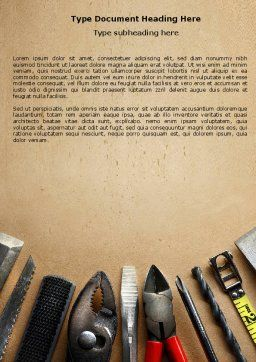 Tools Set Word Template, Cover Page, 04844, Utilities/Industrial — PoweredTemplate.com