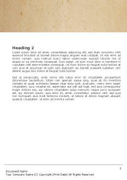Tools Set Word Template, Second Inner Page, 04844, Utilities/Industrial — PoweredTemplate.com