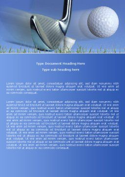Slight Bump In Golf Word Template, Cover Page, 04845, Sports — PoweredTemplate.com