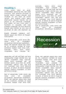 Recession Word Template First Inner Page