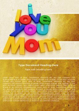 Mothers Day Word Template Cover Page
