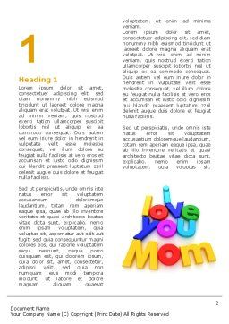 Mothers Day Word Template First Inner Page