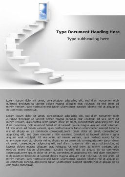 Stairway To Exit Word Template, Cover Page, 04849, Careers/Industry — PoweredTemplate.com