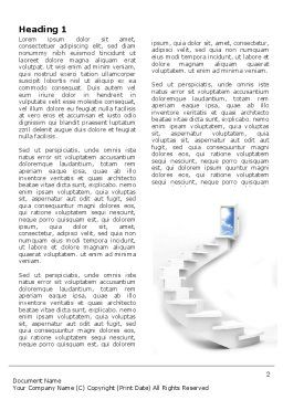 Stairway To Exit Word Template First Inner Page
