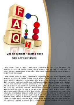 FAQ Word Template, Cover Page, 04852, Consulting — PoweredTemplate.com