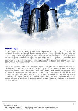 City Center Word Template, Second Inner Page, 04854, Construction — PoweredTemplate.com