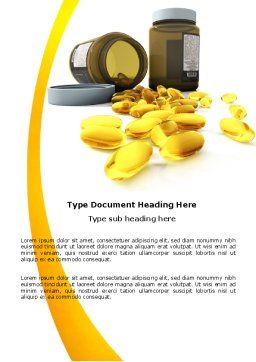 Capsules Word Template, Cover Page, 04855, Medical — PoweredTemplate.com