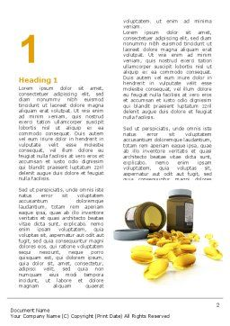 Capsules Word Template, First Inner Page, 04855, Medical — PoweredTemplate.com