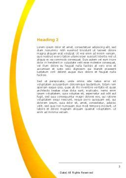 Capsules Word Template, Second Inner Page, 04855, Medical — PoweredTemplate.com