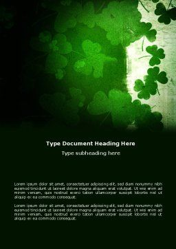 Clover Leaves Word Template, Cover Page, 04859, Holiday/Special Occasion — PoweredTemplate.com