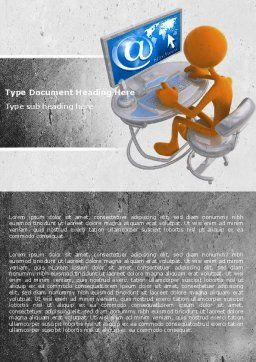 Internet Addiction Word Template Cover Page