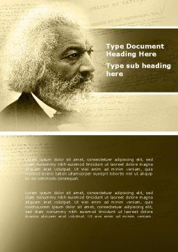 Frederick Douglass Word Template, Cover Page, 04861, People — PoweredTemplate.com