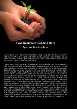 Planting Word Template, Cover Page, 04862, Nature & Environment — PoweredTemplate.com