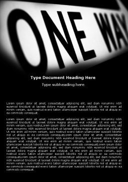 One Way Word Template Cover Page