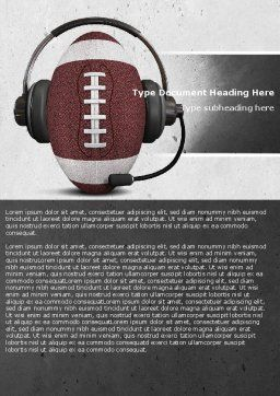 Sports Announcer Word Template, Cover Page, 04870, Sports — PoweredTemplate.com