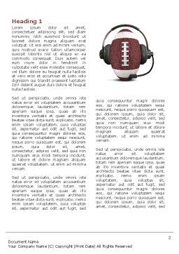Sports Announcer Word Template, First Inner Page, 04870, Sports — PoweredTemplate.com