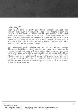 Sports Announcer Word Template, Second Inner Page, 04870, Sports — PoweredTemplate.com