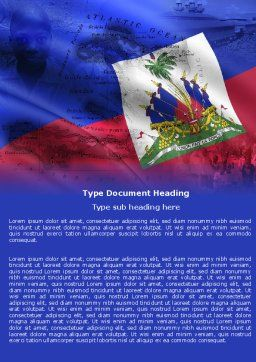 Haiti Word Template, Cover Page, 04875, Flags/International — PoweredTemplate.com