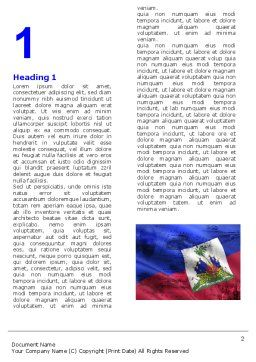 Haiti Word Template, First Inner Page, 04875, Flags/International — PoweredTemplate.com