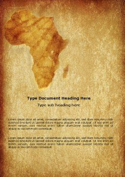 Africa Word Template Cover Page