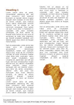 Africa Word Template First Inner Page