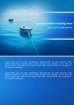 Motor Boats Word Template, Cover Page, 04880, Nature & Environment — PoweredTemplate.com