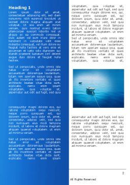 Motor Boats Word Template, First Inner Page, 04880, Nature & Environment — PoweredTemplate.com