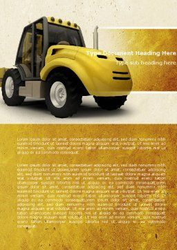 Loader Word Template Cover Page