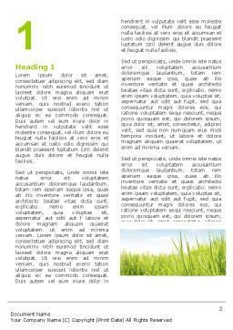 Green Grass Under Blue Sky Word Template First Inner Page