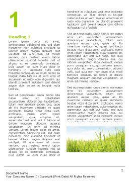 Green Grass Under Blue Sky Word Template, First Inner Page, 04885, Nature & Environment — PoweredTemplate.com