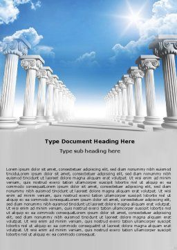 Ionic Columns Word Template, Cover Page, 04887, Careers/Industry — PoweredTemplate.com