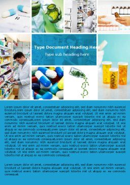 Pharmacy Collage Word Template, Cover Page, 04889, Medical — PoweredTemplate.com