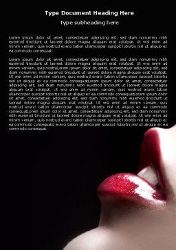 Lips Word Template, Cover Page, 04899, Careers/Industry — PoweredTemplate.com