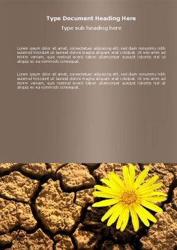 Desert Flower Word Template, Cover Page, 04901, Nature & Environment — PoweredTemplate.com