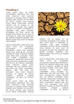 Desert Flower Word Template First Inner Page