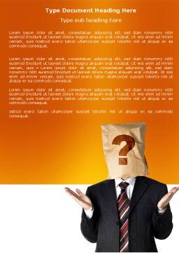Paper Bag Word Template, Cover Page, 04905, Consulting — PoweredTemplate.com