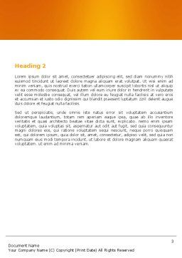 Paper Bag Word Template, Second Inner Page, 04905, Consulting — PoweredTemplate.com