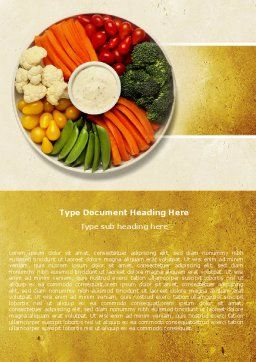 Vitamin Food Word Template, Cover Page, 04909, Food & Beverage — PoweredTemplate.com