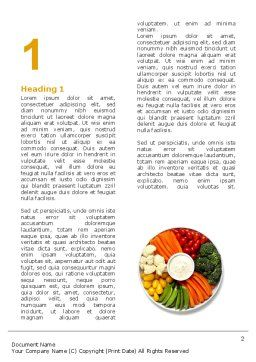 Vitamin Food Word Template, First Inner Page, 04909, Food & Beverage — PoweredTemplate.com