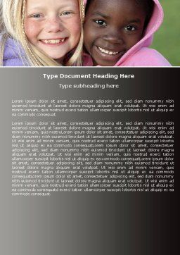 National Diversity Word Template, Cover Page, 04910, People — PoweredTemplate.com
