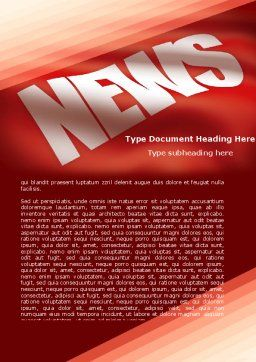 News Word Template Cover Page