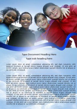 Cultural Diversity Word Template, Cover Page, 04914, Education & Training — PoweredTemplate.com