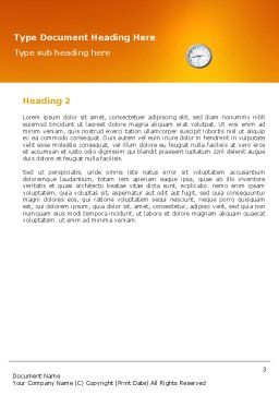 Working Hours Word Template Second Inner Page